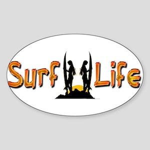 Surf Life girls Sticker (Oval)