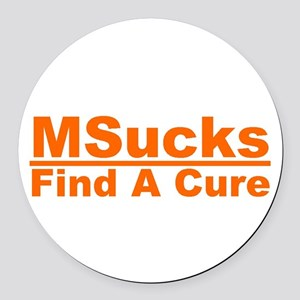 MSucks Round Car Magnet