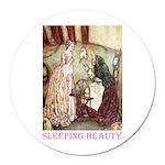 Sleeping Beauty Round Car Magnet
