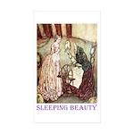 Sleeping Beauty Sticker (Rectangle 10 pk)