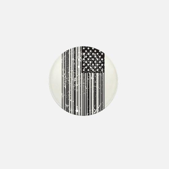Barcode Flag Mini Button