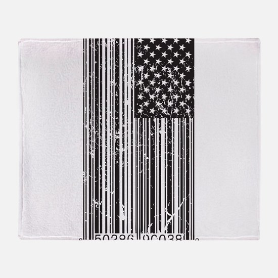 Barcode Flag Throw Blanket