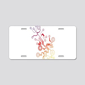 Rainbow Circuit Aluminum License Plate