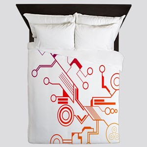Rainbow Circuit Queen Duvet