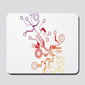 Rainbow Circuit Mousepad