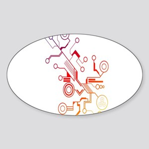 Rainbow Circuit Sticker (Oval)