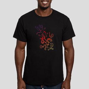 Rainbow Circuit Men's Fitted T-Shirt (dark)