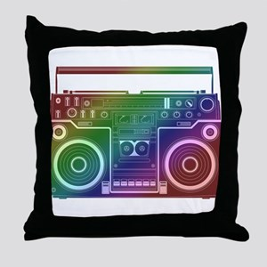 Rainbow Stereo Throw Pillow