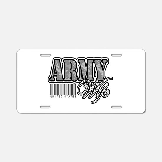 Army Wife, ACU Aluminum License Plate