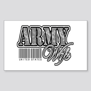 Army Wife, ACU Sticker (Rectangle)