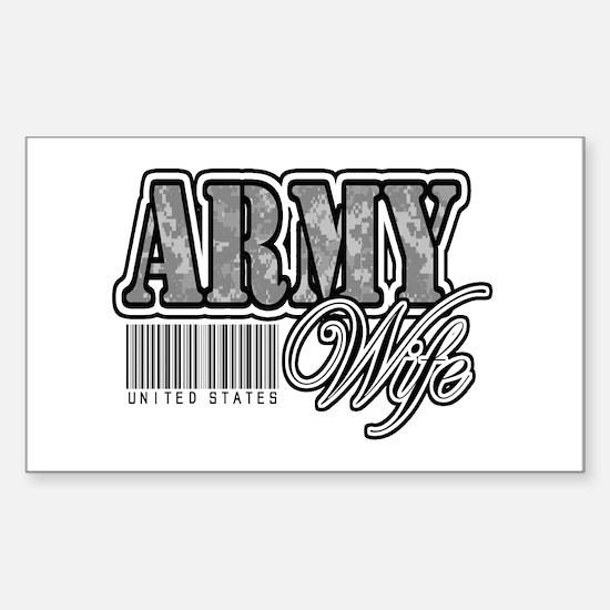 Army Wife, ACU Sticker (Rectangle)