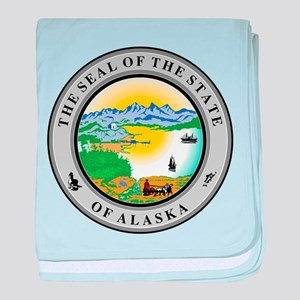 Alaska State Seal baby blanket