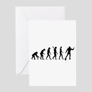 Scuba diving evolution Greeting Card
