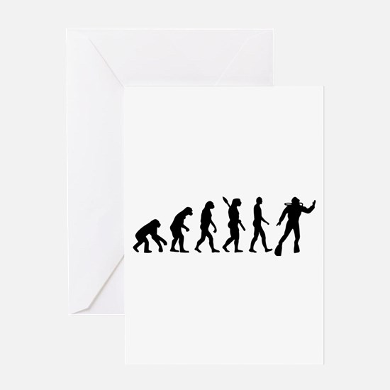 Scuba diving evolution Greeting Card