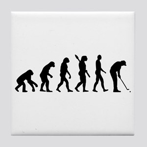Golf evolution Tile Coaster