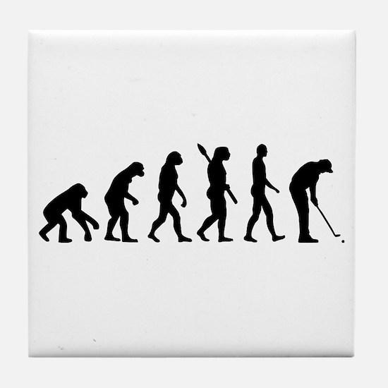 Golf evolution Tile Coaster