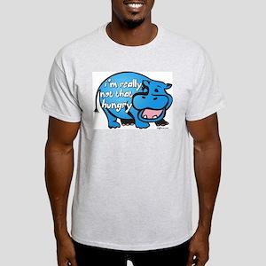 Not Hungry Hippo Ash Grey T-Shirt