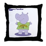 Hippo Fondue Throw Pillow