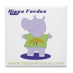 Hippo Fondue Tile Coaster