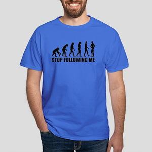 Stop following me evolution Dark T-Shirt