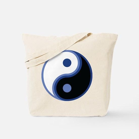 Yin Yang, Blue Tote Bag