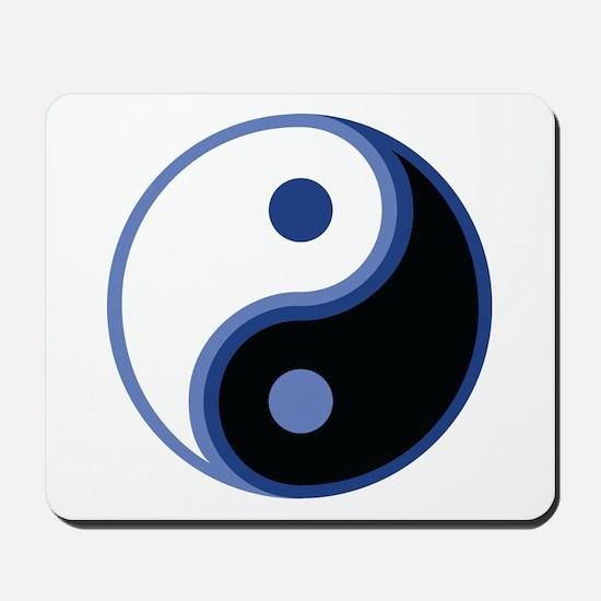 Yin Yang, Blue Mousepad