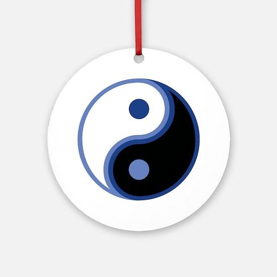 Yin Yang, Blue Ornament (Round)