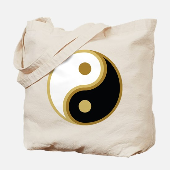 Yin Yang, Gold Tote Bag