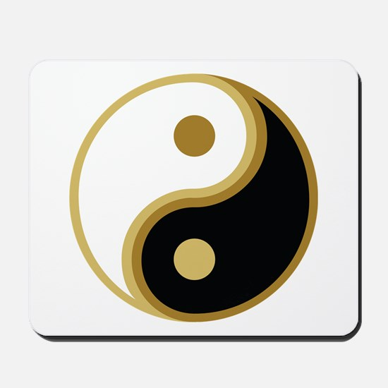 Yin Yang, Gold Mousepad