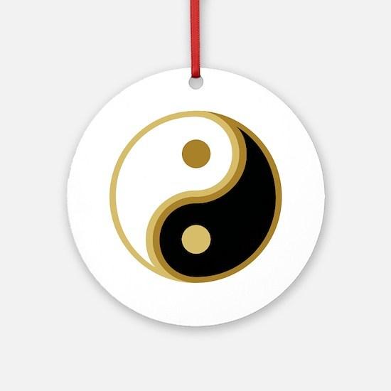 Yin Yang, Gold Ornament (Round)