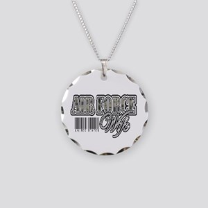 Air Force Wife, Tigerstripe with barcode Necklace