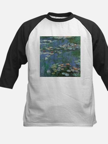 Claude Monet Water Lilies Kids Baseball Jersey