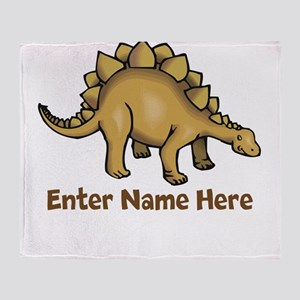 Personalized Stegosaurus Throw Blanket