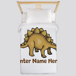 Personalized Stegosaurus Twin Duvet