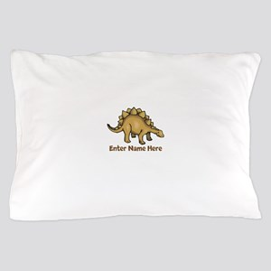 Personalized Stegosaurus Pillow Case