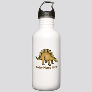 Personalized Stegosaurus Stainless Water Bottle 1.