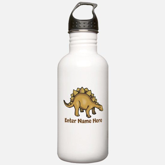 Personalized Stegosaurus Water Bottle