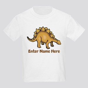 Personalized Stegosaurus Kids Light T-Shirt