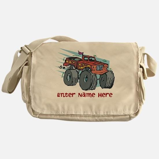 Personalized Monster Truck Messenger Bag