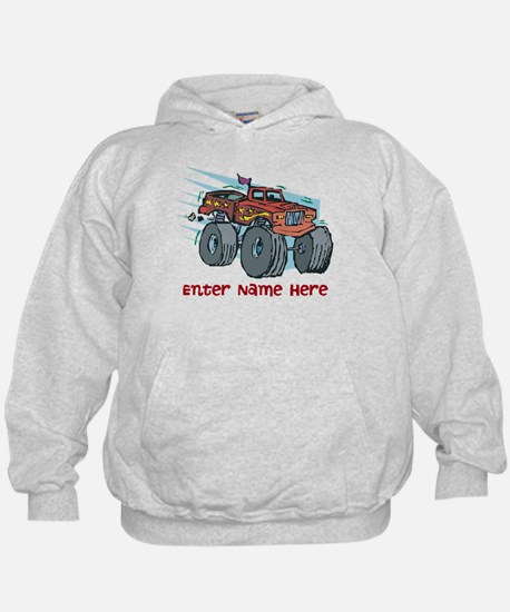 Personalized Monster Truck Hoodie