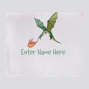 Personalized Dragon Throw Blanket