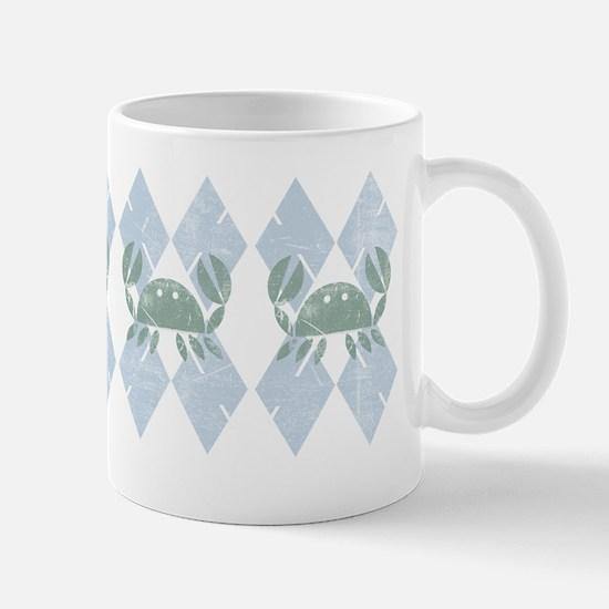 Crabby Argyle Mugs