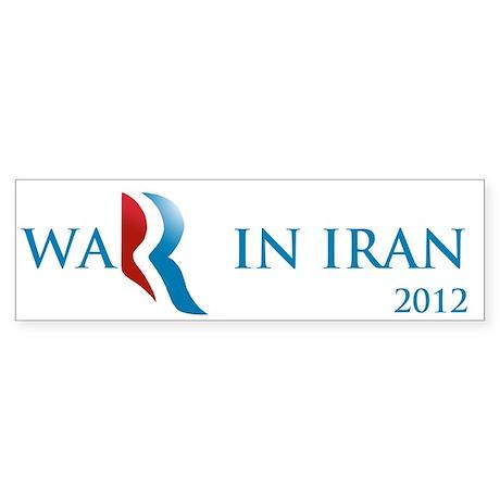 Romney War in Iran Sticker (Bumper 10 pk)