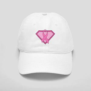 Superhero Shield Pink Ribbon Cap