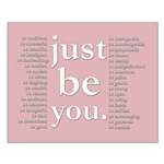 just be you (pink) Poster