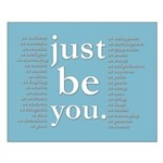 just be you (blue) Poster