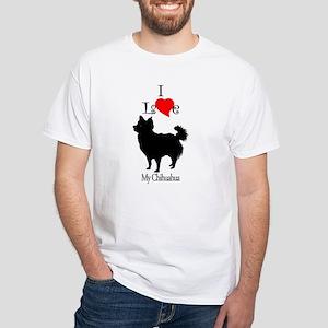 Chihuahua Longhair White T-Shirt