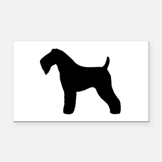 Kerry Blue Terrier Rectangle Car Magnet