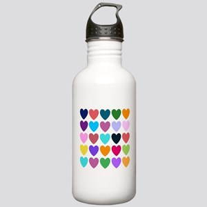 Hearts Stainless Water Bottle 1.0L