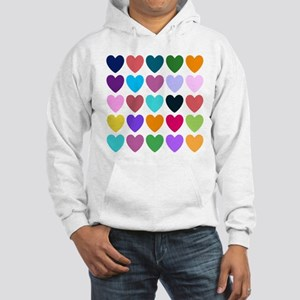 Hearts Hooded Sweatshirt